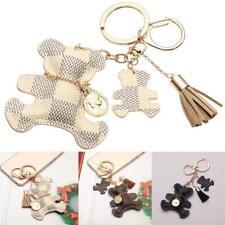 Cute Leather Bear W/ Tassel Style Purse Handbag Key Phone Chain Keyring Gifts MT