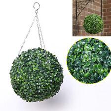 2 Large Artificial Green Boxwood Topiary Balls Hanging Outdoor Garden Front Door