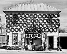 Historical Photograph of a San Marcos Texas Firestone Tire Shop 1940  8x10