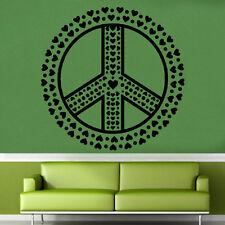 Pace Cuore Ruota Adesivo Da Parete In Vinile Arte Love Decorazione