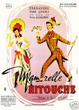 Mam'zelle Nitouche Fernandel Vintage movie poster