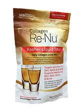 SkinPep Collagen Re-Nu Kosher Bovine Collagen Shot - The Anti-Ageing Collagen