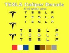 9 TESLA Brake Caliper Logo Vinyl Decals Stickers Heat Resistant FREE SHIPPING!