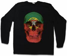 Portugal Skull Flag manches longues T-shirt Drapeau Drapeau Bannière Crâne portugaise