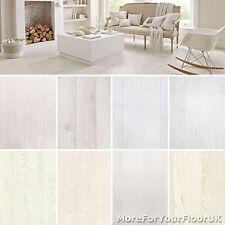 White Wood Plank Vinyl Flooring Realistic Style Flooring Lino Kitchen Bathroom