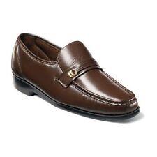 Mens shoes Florsheim Riva Cognac Dress up Leather Slip On Easy fit 17088-03 SALE