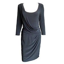 Jones New York Black Draped Cocktail / Party Dress Size 10