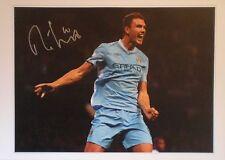 Edin Dzeko Signed Manchester City Photo Un-framed COA Large 16x12