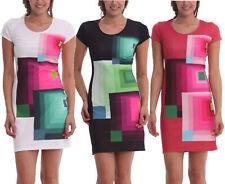Desigual Dani Dress S-XXL 10-18 RRP£99 Pink White Black Geometric Squares Shift