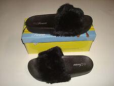 NEW WOMEN Fur Slide Cute Slipper Comfortable Flat Shoes Faux Furry Sandal SALE