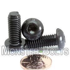 8mm / M8 x 1.25 - BUTTON HEAD Socket Cap Screws Alloy Steel 12.9 Blk Ox ISO 7380