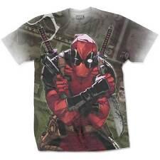 Official T Shirt DEADPOOL- CASH Size S White Mens Sublimation Marvel Comics New