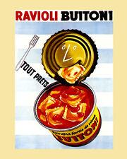 Cheese Ravioli Buitoni Pasta French Kitchen Food 16X20 Vintage Poster FREE S/H
