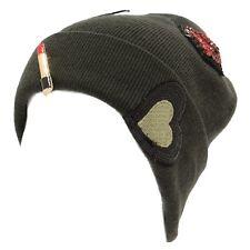 5066Y cuffia bimba Regina Gold wool/cashmere Green hat girl