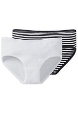 SCHIESSER Mädchen Panty Slips 2er Pack S M L 152 164 176 95/5 CO/EL Unterhosen