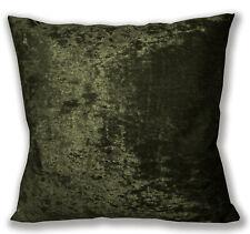Mv34a Dark Olive Diamond Crushed Velvet Cushion Cover/Pillow Case Custom Size