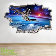 Espacio Pared Adhesivo 3D Look-Moon Planeta Galaxy Stars Niños Dormitorio Z310