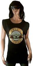 AMPLIFIED GUNS N'ROSES Drum Logo Rock Star Longshirt Tunika Dress T-Shirt g.L