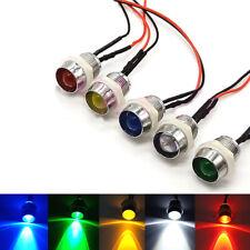 10mm Pre-Wired LEDs With Metal Holders 13mm Panel Mount 3V 6V 9V 12V 24 36V~220V