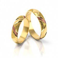 1 Paar Trauringe Gold 333 - Mattiert / Poliert - Versch. Breiten 3mm - 10mm