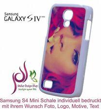 Samsung Galaxy S4 Mini Handy Schale Hülle Cover individuell bedruckt Wunsch Foto