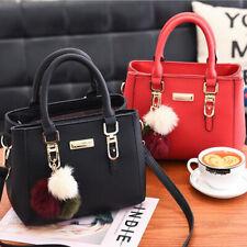 Women PU Leather Totes Solid Handbag Purse Ladies Messenger Crossbody Bag N7