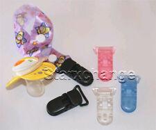 25 PLASTIC CLIPS PACIFIER D CLIPS BIB MEMO HOLDER U SELECT COLOR