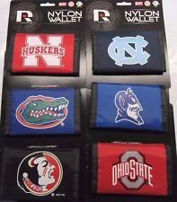 NCAA Printed Tri-Fold Nylon Wallet RICO -Select- Team Below