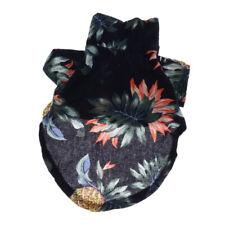 Ananas Pet Clothes pour les chemises pour chiens Cat Polo Apparel Black