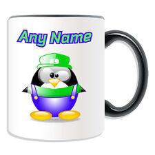 Regalo Personalizzato Silly Luigi TAZZA Money Box COPPA Divertente Novità Penguin Idraulico NOME