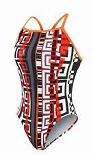 NIKE Labyrinth Racerback Lingerie White Orange Red Black Swim Suit Girls 8 10 12
