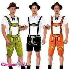 Mens Lederhosen Oktoberfest Octoberfest Bavarian German Beer Costume Fancy Dress