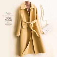 Winter Women Cashmere 100% Wool Outwear Single-breasted Coat Parka Jacket Trench