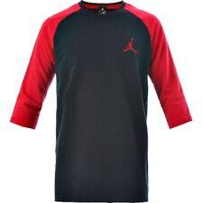 Originale Nike Jordan 23 Vero 3/4 Raglan Nero/Rosso T-Shirt Aa5607-010