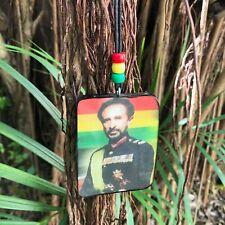 "Selassie Pendentif Noir Cordon Collier Rasta Marley Reggae Jamaïque 34 ""/ 86 CM"