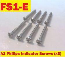 Yamaha FS1E - Stainless Indicator Screws (set of 8)