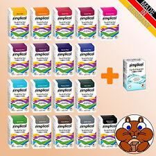 1x SIMPLICOL: Textilfarbe expert vers. Farben inkl. Fixierer 150g + 90ml Wäsche1