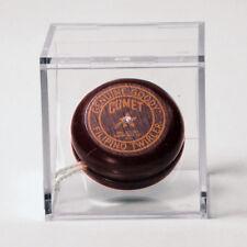 Replica Vintage Collectible Wooden Yo-Yos - Enclosed in Acrylic Display Box