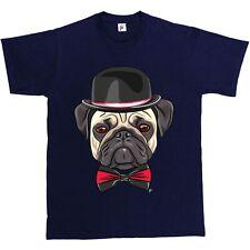Posh Pug Bombetta & comando modifica Pug T-Shirt da uomo