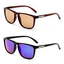 Unisex Squared Frame Sunglasses 53MM Lens Temple Keyhole Men Women