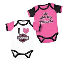 Harley-Davidson® Princess Girls Bar & Shield Pink Creeper One-piece Set 3000557