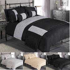 """PRETORIA""  Luxury Duvet Quilt Cover Bedding Set In A Choice Of  Colours & Sizes"