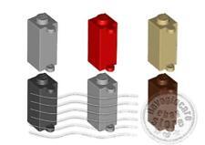 LEGO 3581 Mattoncino Porta Persiane 1x1x2, colore a scelta