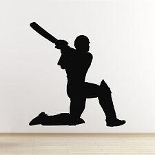 Cricket pegatinas de pared-batsman golpeando para seis pegatinas de pared
