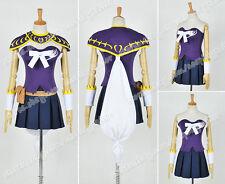 Fairy Tail The Grand Magic Games Cosplay Costume Lucy Heartfilia Purple Uniform