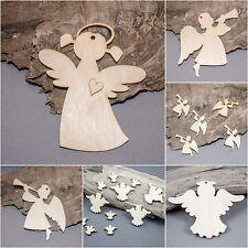 Christmas Angel Angels  Decoration  MDF Birch Plywood Laser Cut Wooden Shape