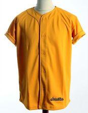 SCARCEWEAR DA UOMO TINTA UNITA SABBIA ORO Silky Baseball Jersey Maglia Top Taglia S a 4xl