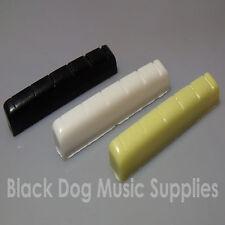Guitarra Tuerca Superior De 44mm X de 6mm para la elección de colores Negro, Marfil O Blanco 6 Cuerdas