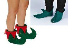 ELF PIXIE SHOE COVERS XMAS ELF SHOES WITH BELLS UNISEX CHRISTMAS FANCY DRESS
