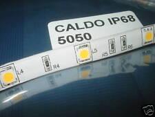 5m SMD5050 LED STRIP STRISCIA BIANCO CALDO 32w IP68